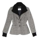 Tweed Jacket w/ Cashmere Dickey